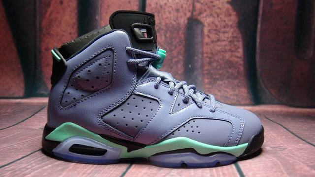 Authentic Air Jordan 6 Retro GS Bleached Turquoise