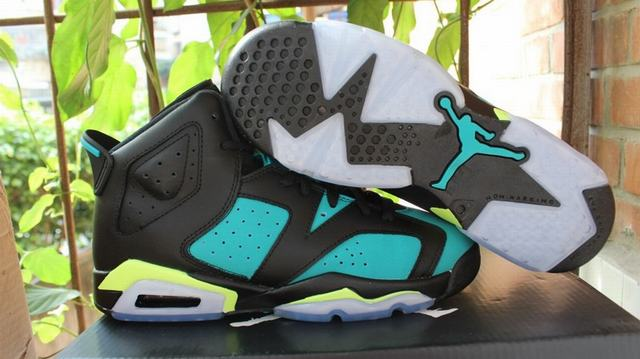 Authentic Air Jordan 6 Retro Turbo Green GS