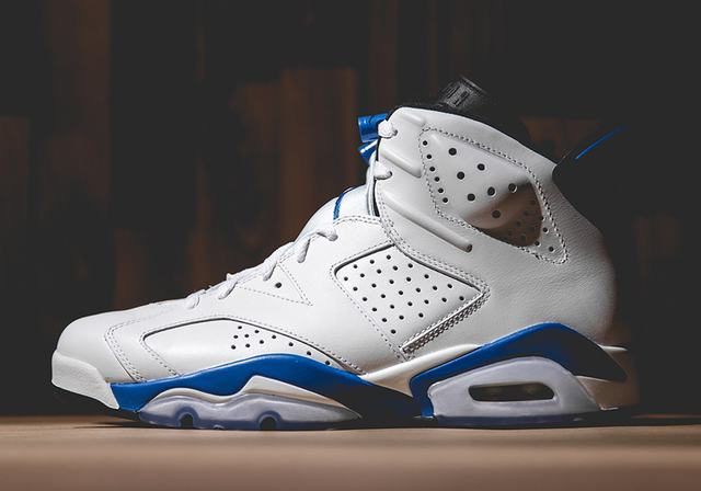 Authentic Air Jordan 6 Sport Blue