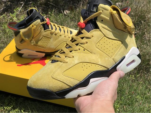 Authentic Air Jordan 6 Travis Sccot Yellow