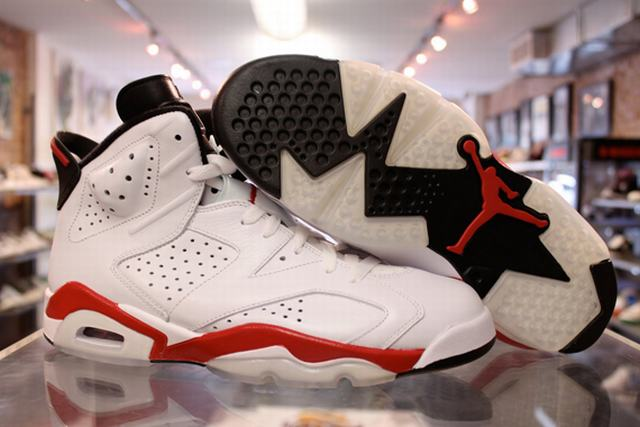 Authentic Air Jordan 6 White&Varsity Red