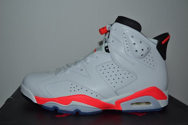 Authentic Air Jordan 6 White Infrared
