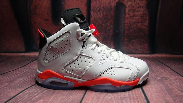 Authentic Air Jordan 6 White Infrared GS
