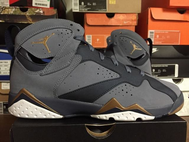 Authentic Air Jordan 7 GS Blue Dusk Metallic Gold