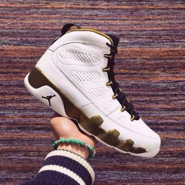 "Authentic Air Jordan 9 ""Copper Statue"""