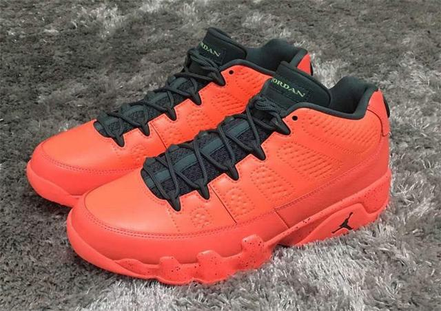 Authentic Air Jordan 9 Low Bright Red