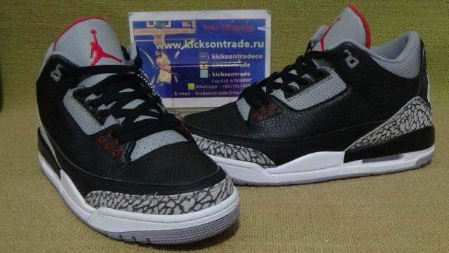 Authentic Air Jordan Retro 3 OG Black Cement 2018