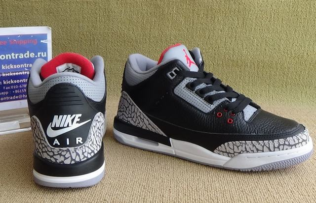 Authentic Air Jordan Retro 3 OG Black Cement GS