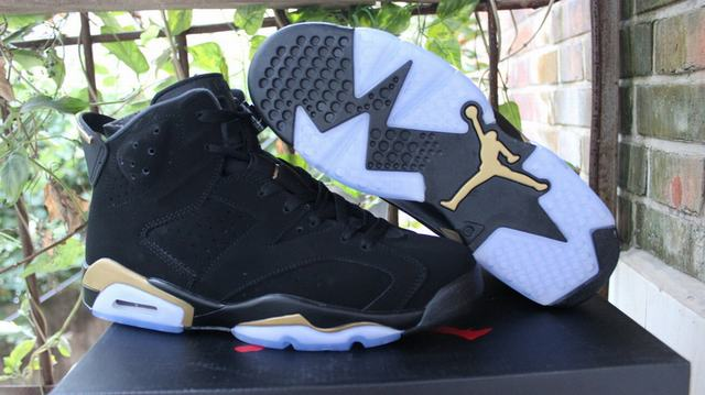 Authentic Authentic Air Jordan 6 DMP Black Gold