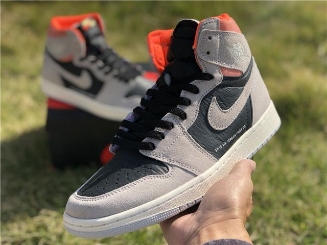 Authentic Cspace Air Jordan 1 OG High Grey Pink