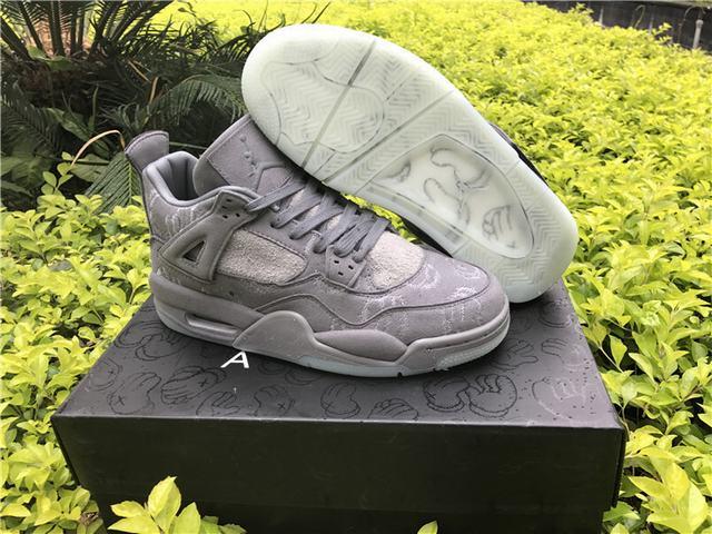 "Authentic Kaws x Air Jordan 4 ""Cool Grey"" GS"