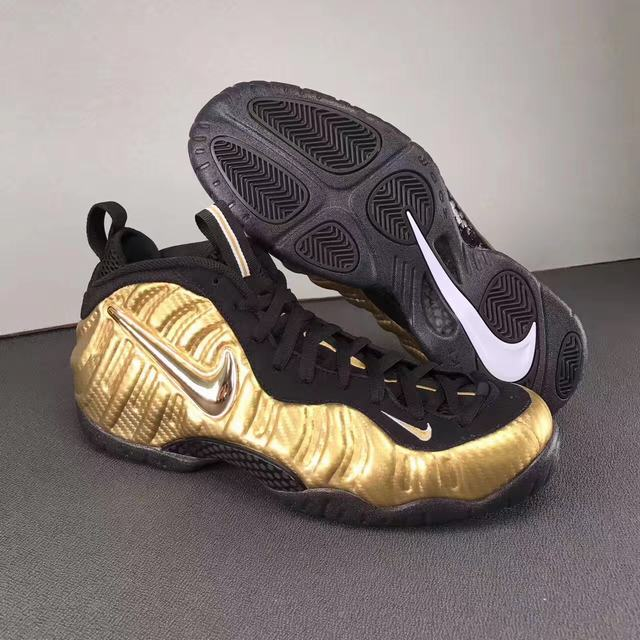"Authentic Nike Air Foamposite Pro ""Metallic Gold"""