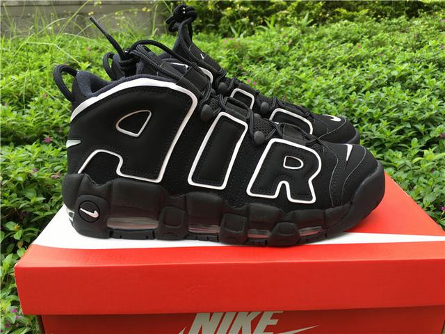 Authentic Nike Air More Uptempo Black and White
