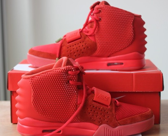 Authentic Nike Air Yeezy 2 Red October(Updates version)