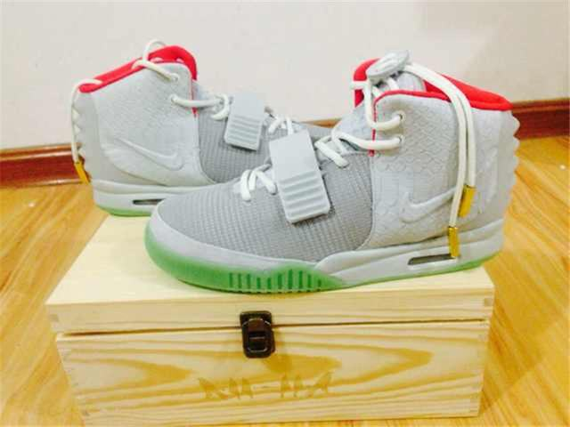 Authentic Nike Air Yeezy 2 Wolf Grey(With Wooden Box)