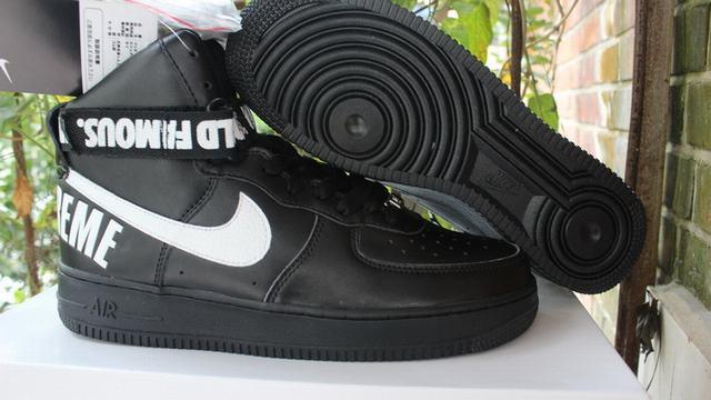 Authentic Nike x Supreme Air Force 1 High Black
