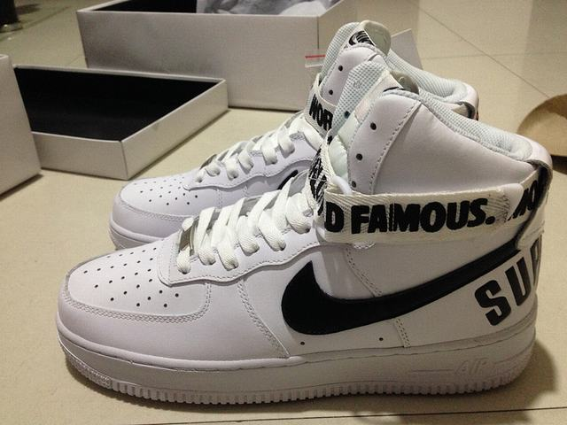 Authentic Nike x Supreme Air Force 1 High White