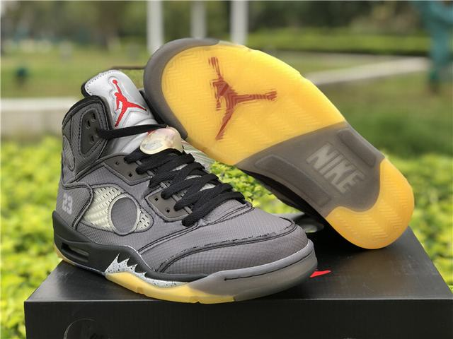 Authentic OFF-WHITE x Air Jordan 5