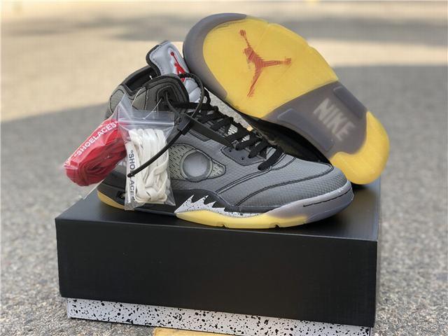 Authentic OFF-WHITE x Air Jordan 5