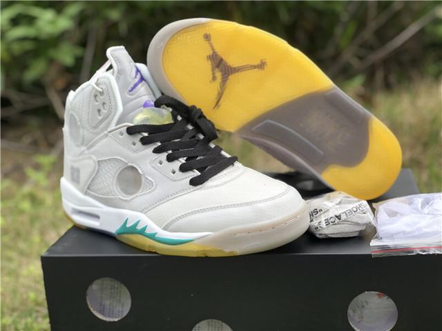 Authentic OFF-WHITE x Air Jordan 5 White