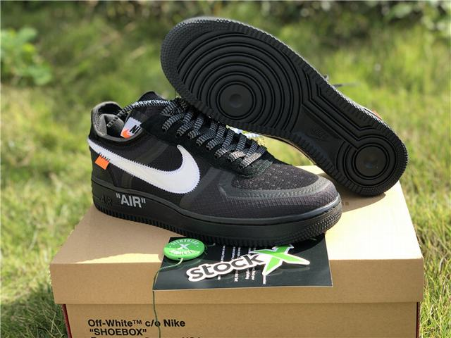 Authentic OFF-WHITE x Nike Air Force 1 Low Black