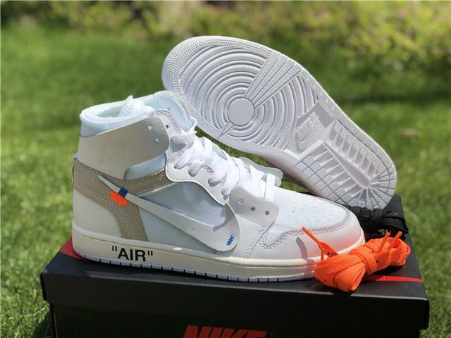 Authentic Off White x Air Jordan 1 White GS