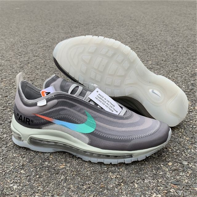 Authentic Off White x Air Max 97 Grey