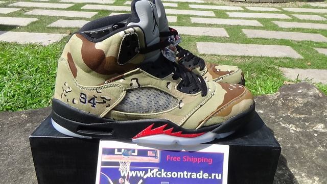 "Authentic Supreme x Air Jordan 5 ""Camo"""