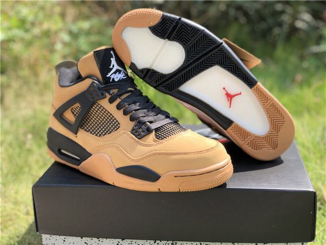 Authentic Travis Scott x Air Jordan 4 Brown