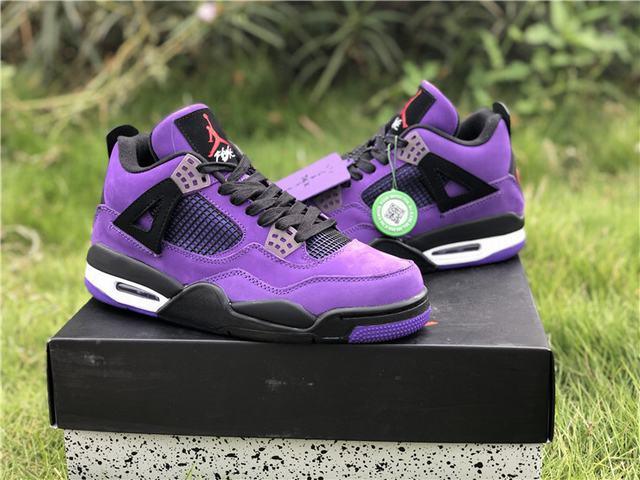 Authentic Travis Scott x Air Jordan 4 Purple