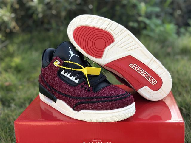 "Authentic Vogue x Air Jordan 3 ""AWOK"" University Red"
