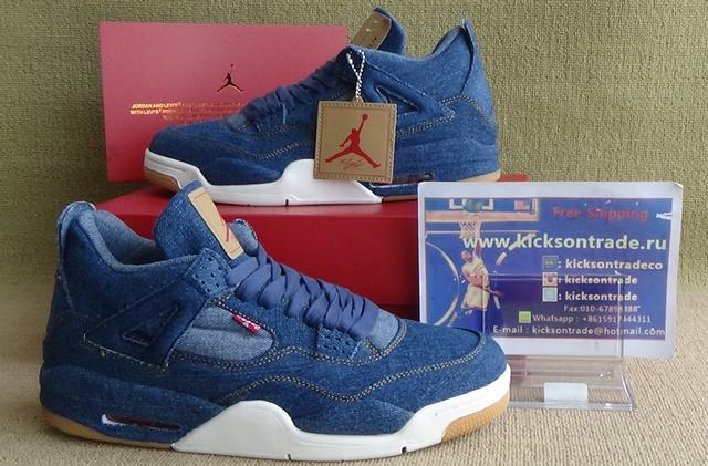 Authentic air jordan 4 Levi's
