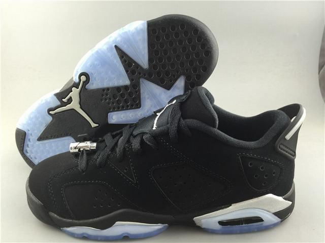 Authetic Air Jordan 6 Low Chrome GS