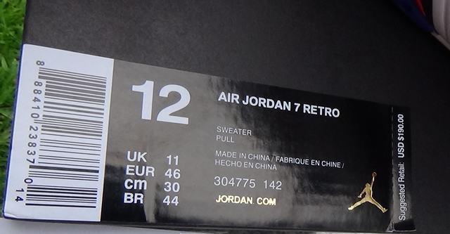 "Authentic Air Jordan 7 ""Sweater"""