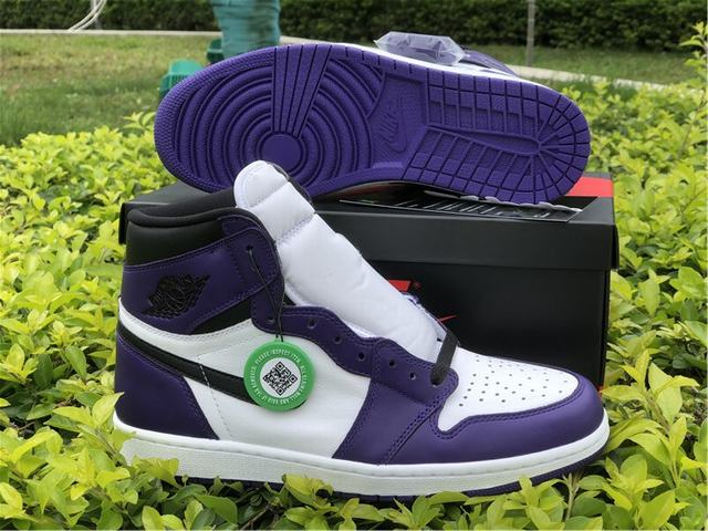 "Authentic Air Jordan 1 ""Court Purple"""