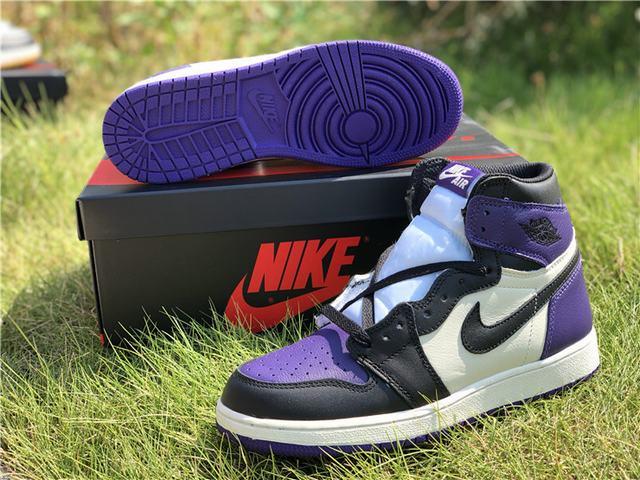 """Authentic Air Jordan 1 """"Court Purple""""GS"""
