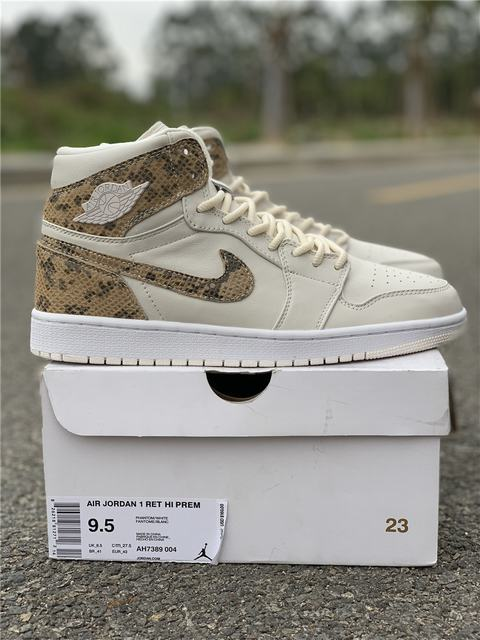 Authentic Air Jordan 1 Hi Premium Snakeskin