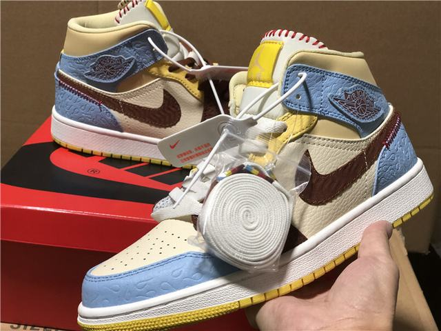 "Authentic Air Jordan 1 High Mid ""Fearless"""