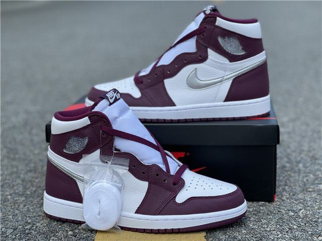 "Authentic Air Jordan 1 High OG"" Bordeaux"""