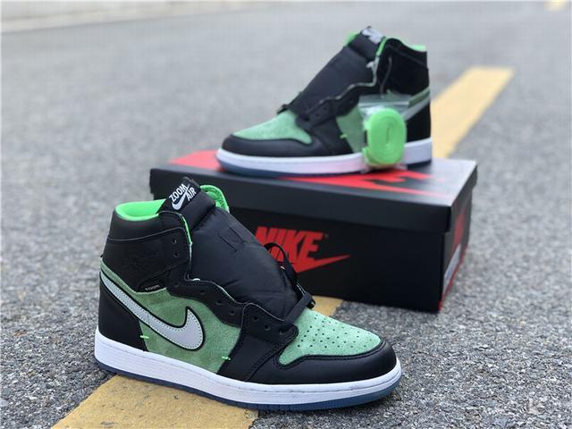 "Authentic Air Jordan 1 High Zoom ""Rage Green"""