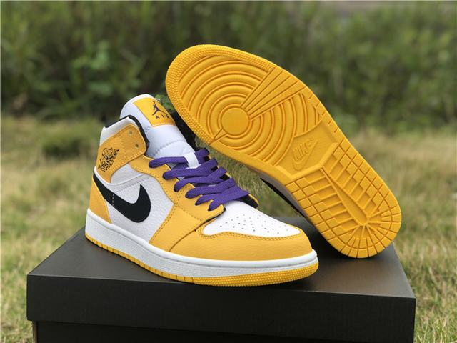 Authentic Air Jordan 1 Mid Lakers