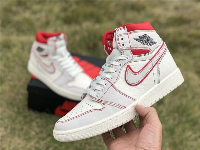 "Authentic Air Jordan 1 Retro High OG ""Sail&Red"""