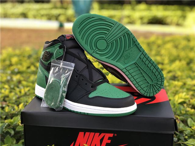Authentic Air Jordan 1 Retro High OG Pine Green