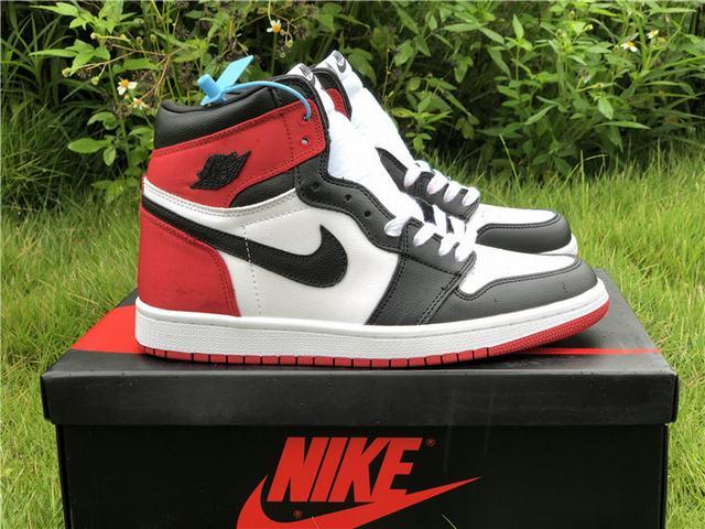 Authentic Air Jordan 1 Stain Black Toe