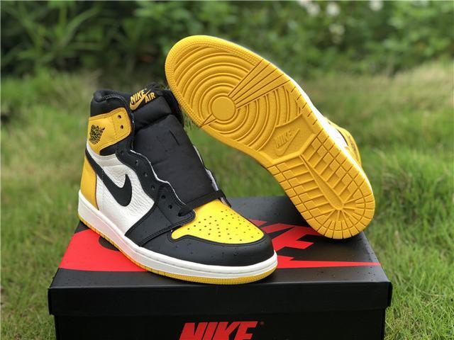 Authentic Air Jordan 1 Yellow Toe