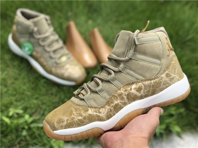 "Authentic Air Jordan 11 ""Neutral Olive"" WMNS"
