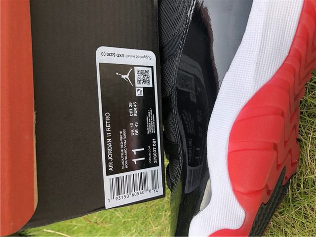 Authentic Air Jordan 11 Bred 2019