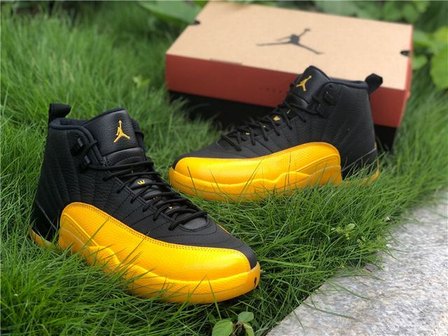 "Authentic Air Jordan 12 ""University Gold"""
