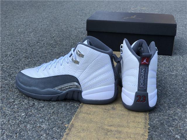 Authentic Air Jordan 12 Dark Grey GS