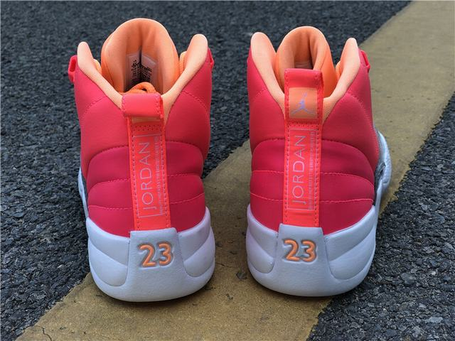 "Authentic Air Jordan 12 GS ""Hot Punch"""